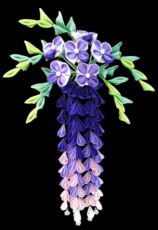 藤の花髪飾り