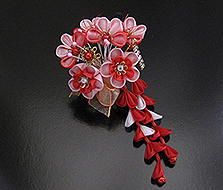 doll kanzashi hair piece