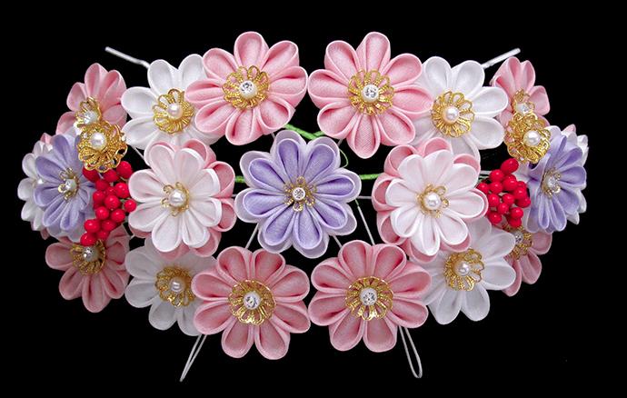 かんざし髪飾り 菊