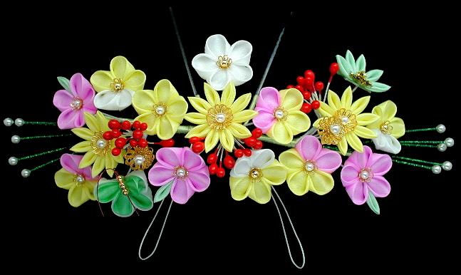 黄系花かんざし