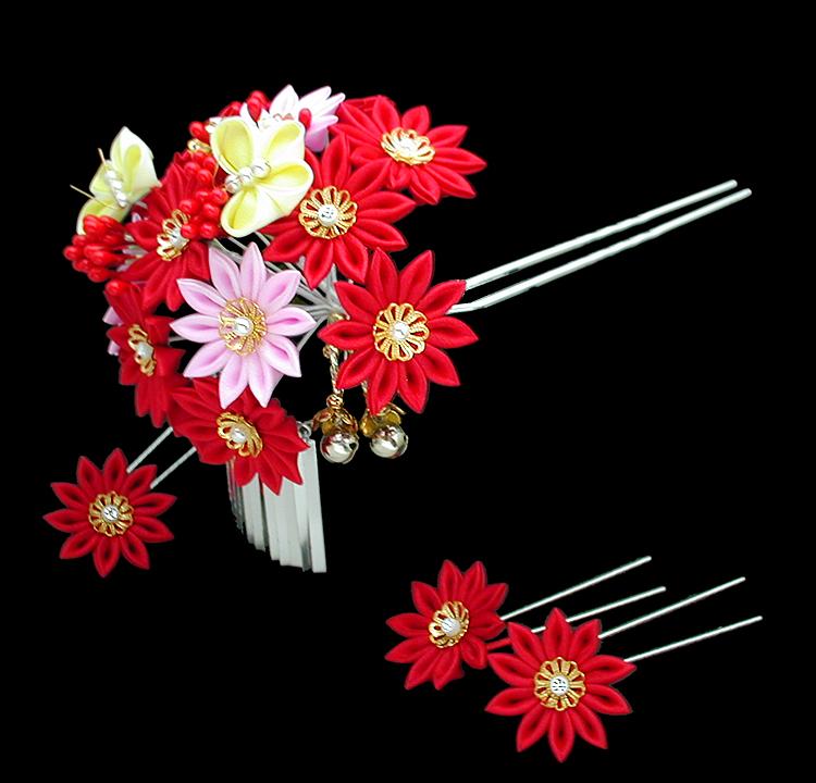 工房摩耶の花かんざし