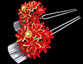 red maple set kanzashi
