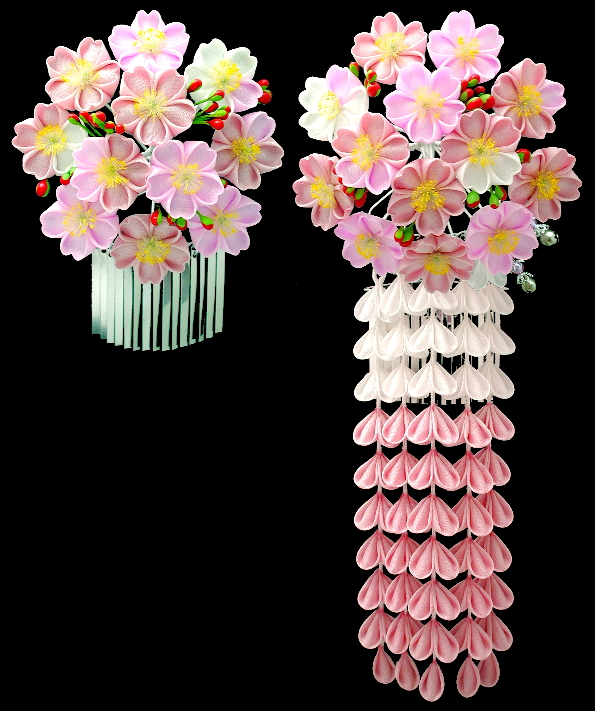 Kanzashi April Cherry Blossoms Flower For Maiko