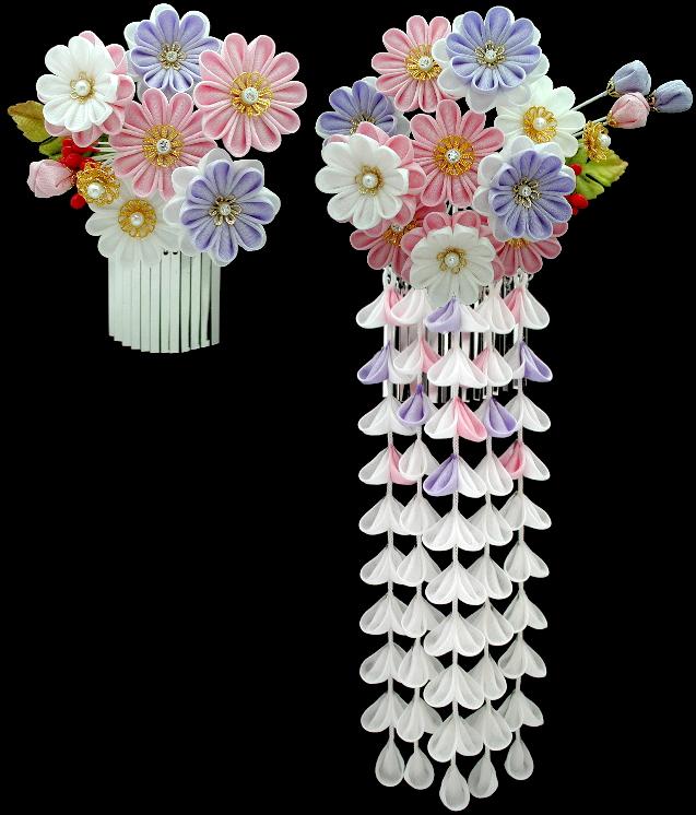 K 11 Chrysanthemums Kanzashi
