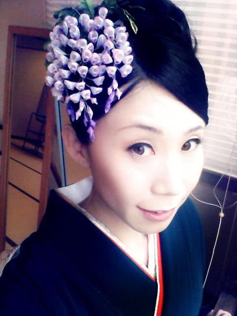 婚礼 工房摩耶の花かんざし 藤かんざし