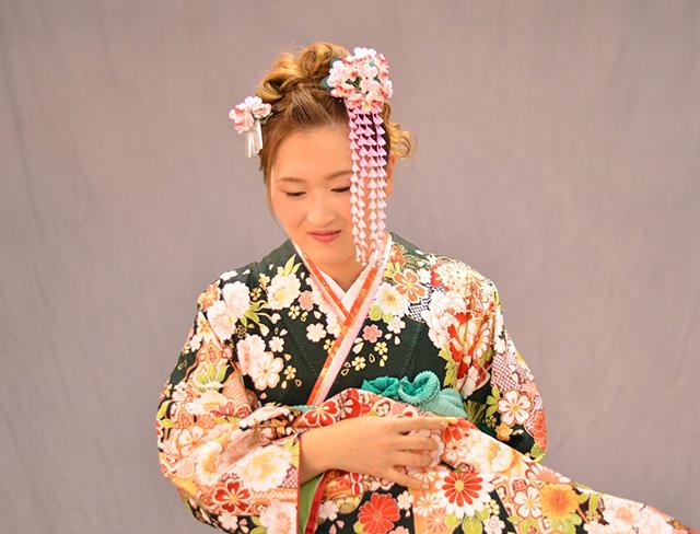 婚礼 花かんざし髪飾り 胡蝶蘭 特注