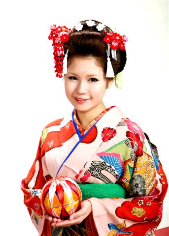 成人式 摩耶の花かんざし 赤系k-43(廃盤)、バラピン, op-01