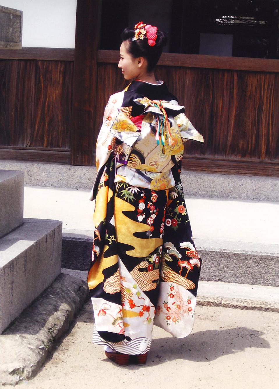 摩耶の花かんざし 髪飾り 楓k-10-04, かのこ赤