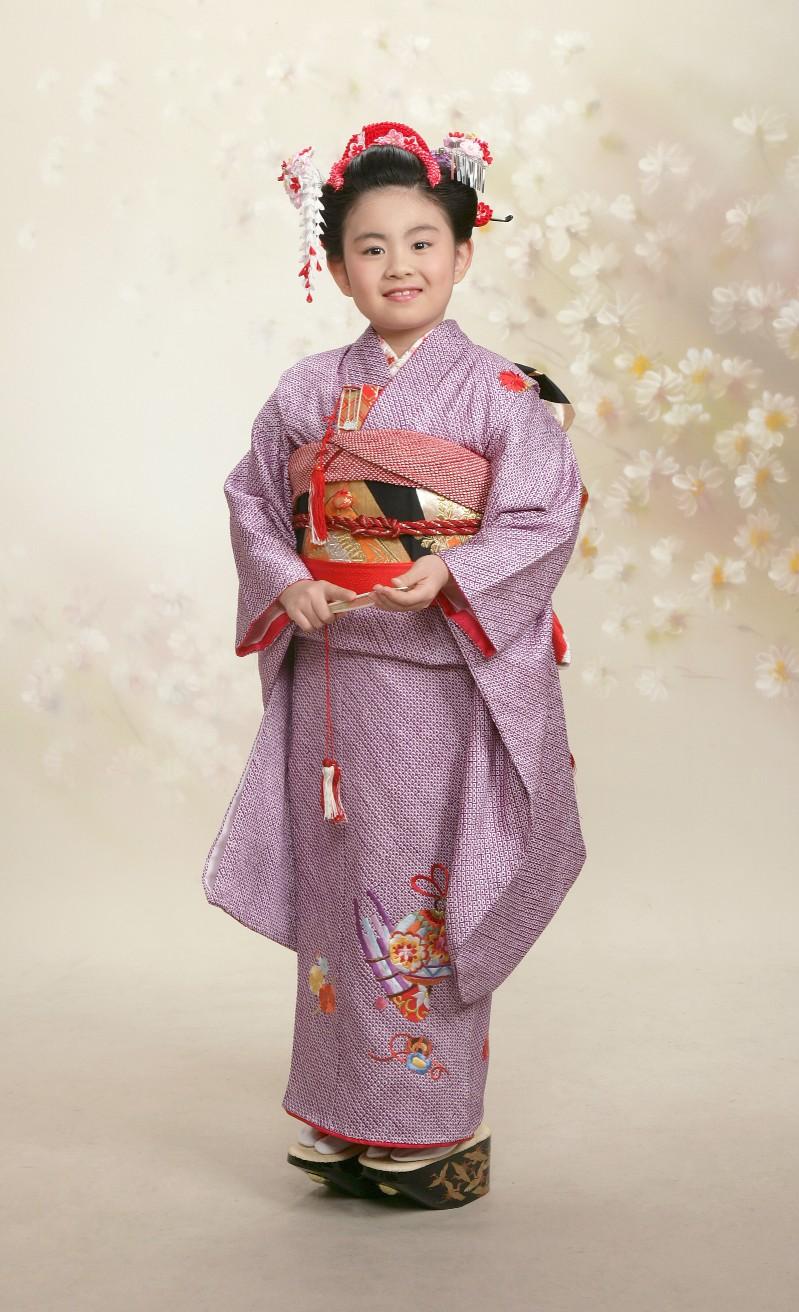 かんざしk-01-02 京かのこ紫 花櫛赤系 ちんころ 平かんざし赤系