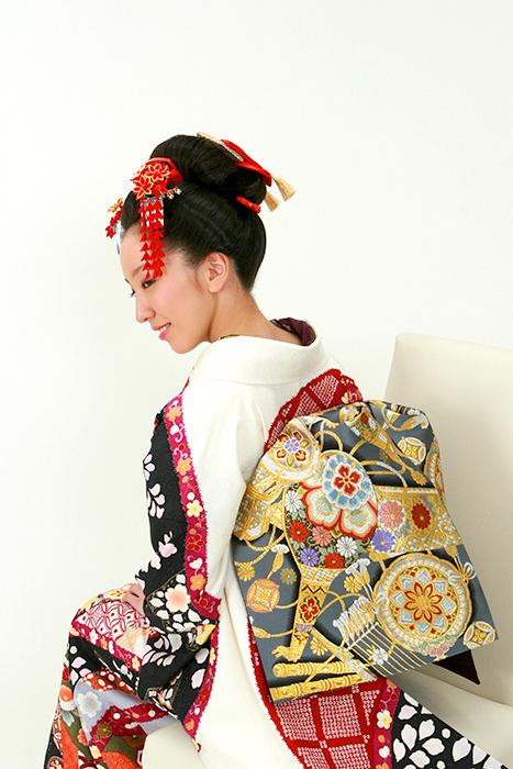 成人式 摩耶の花かんざし 楓 k-09-01